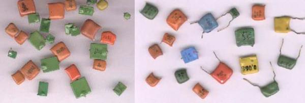 Вид конденсаторов содержащих драгметаллы КM3-6