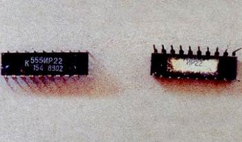 Содержание золота в микросхеме К555ИР22