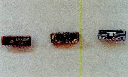 Содержание золота в микросхеме К 561