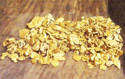 Природное золото на планете