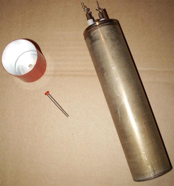 Содержание серебра в газорозрядном приборе КНК15
