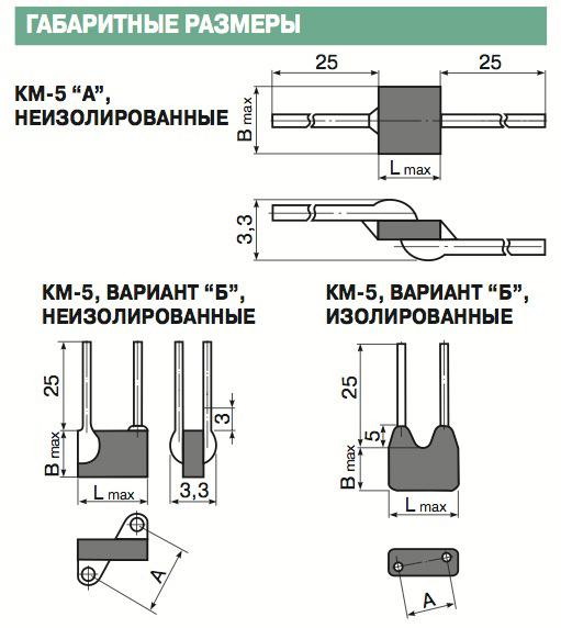 Содержание драгметаллов в конденсаторах КМ-5