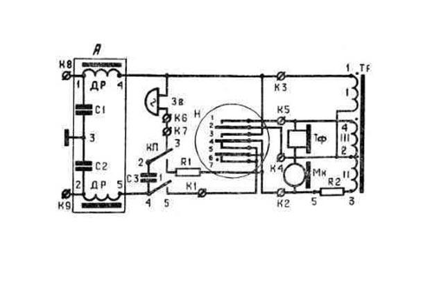 схема аппарата ТАС-М-4