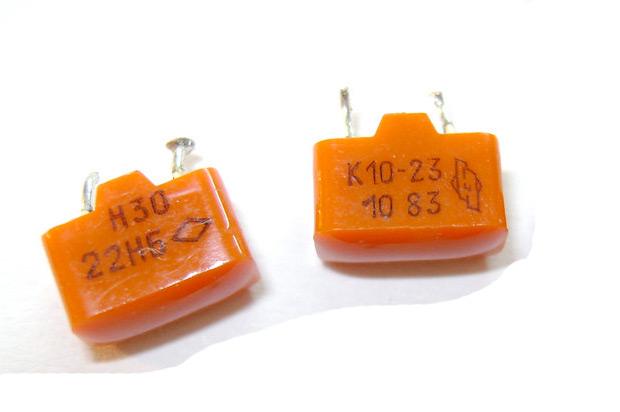 Фото конденсатора К10-23