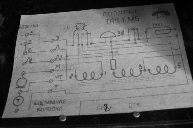 Принципиальная электрическая схема аппарата ТАУ