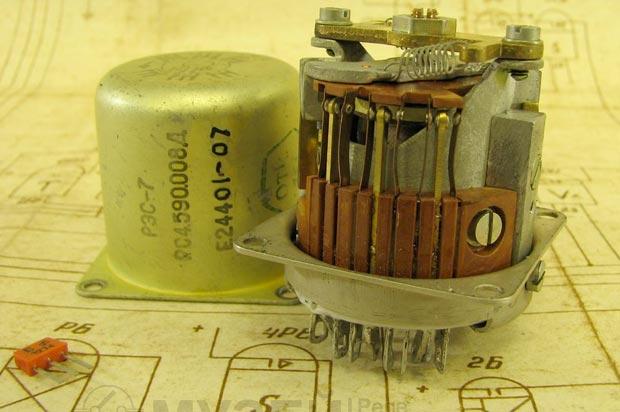 Реле РЭС-7 - содержание драгоценных металлов