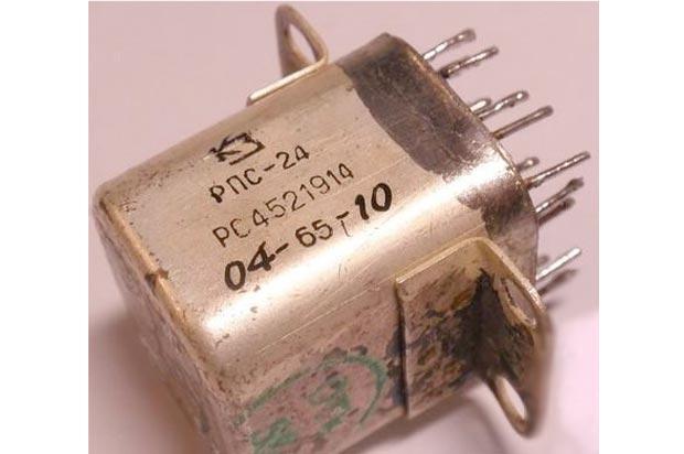 Реле РПС-24 - содержание драгоценных металлов