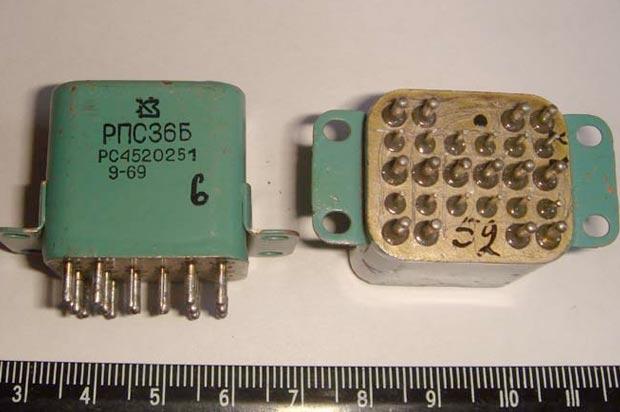 Реле РПС-36 - содержание драгоценных металлов