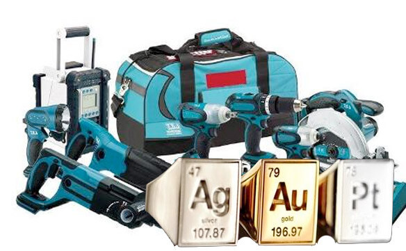 Электроинструмент - золото, серебро, платина и другие драгоценные металлы