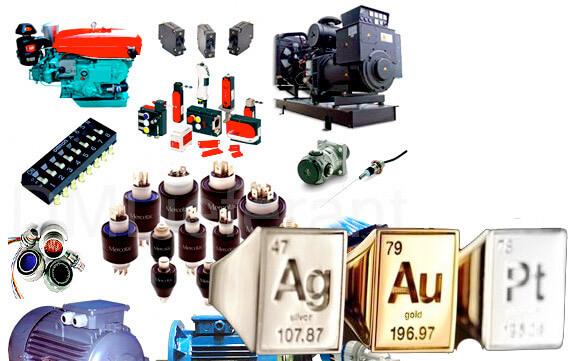 Электрооборудование - - золото, серебро, платина и другие драгоценные металлы