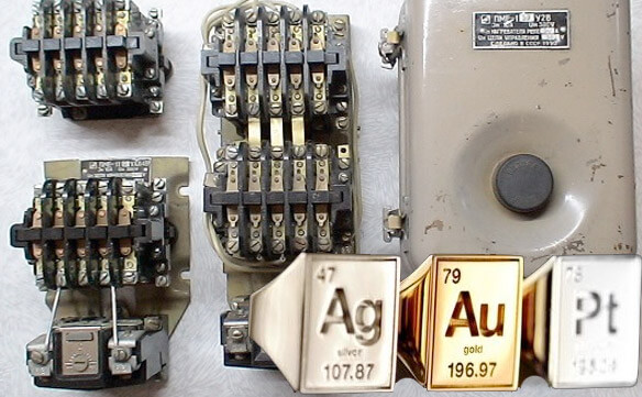 Пускатель электромагнитный - золото, серебро, платина и другие драгоценные металлы