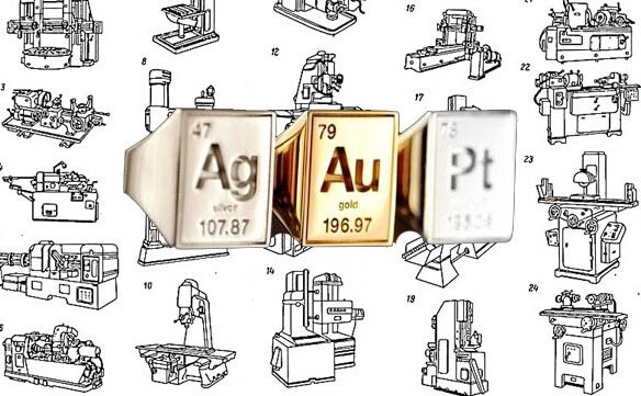 Станки и станочное оборудование - золото, серебро, платина и другие драгоценные металлы